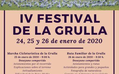 IV FESTIVAL DE LA GRULLA. El Viso, 24 a 26 de enero de 2020